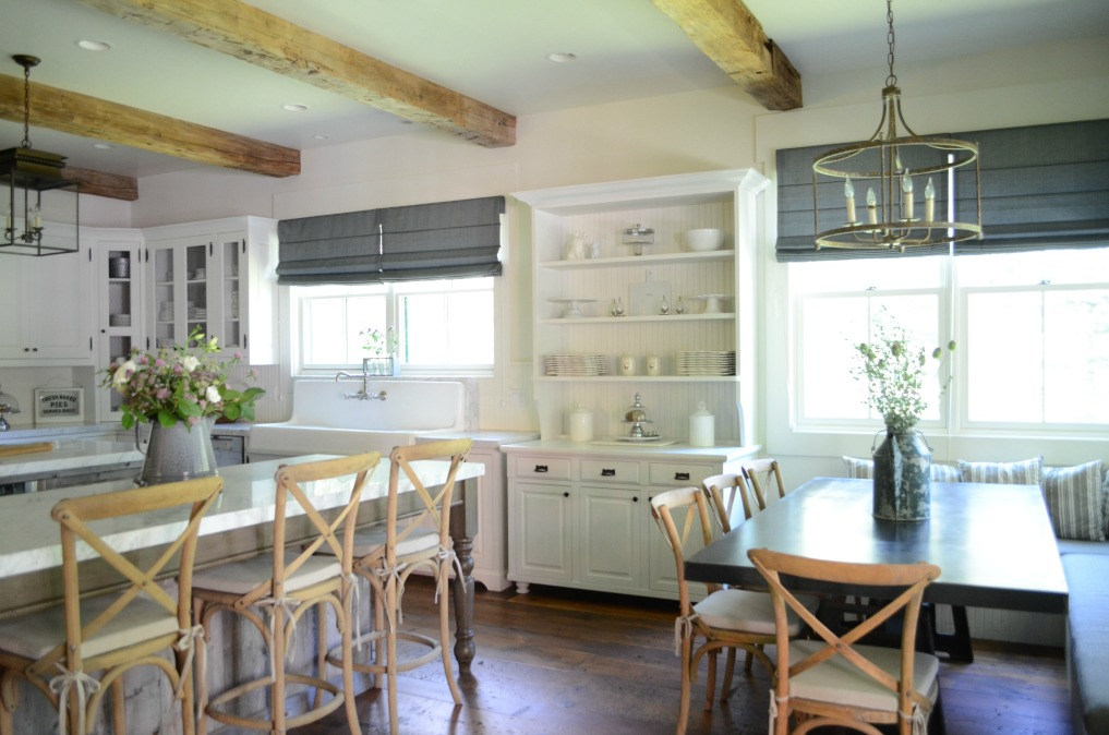Eclectic Home Tour of Sanctuary Home - welcome to Crow Hollow Ranch. This 500 acre property is complete with farmhouse, guest house and rustic cabin kellyelko.com #hometour #kitchen #rusticdecor #barnwood #whitekitchen #homedecor