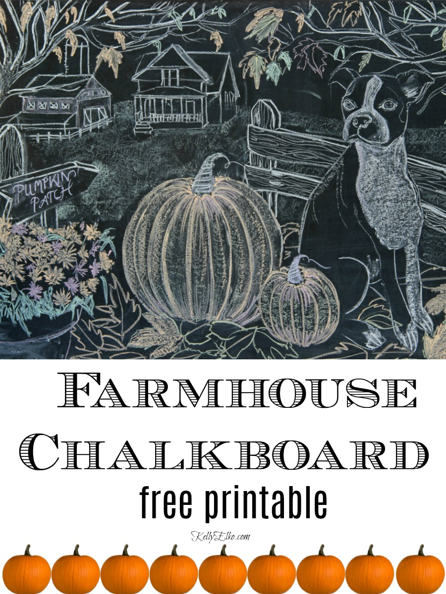 photograph regarding Free Chalkboard Printable called Tumble Farmhouse Chalkboard Artwork Printable - Kelly Elko
