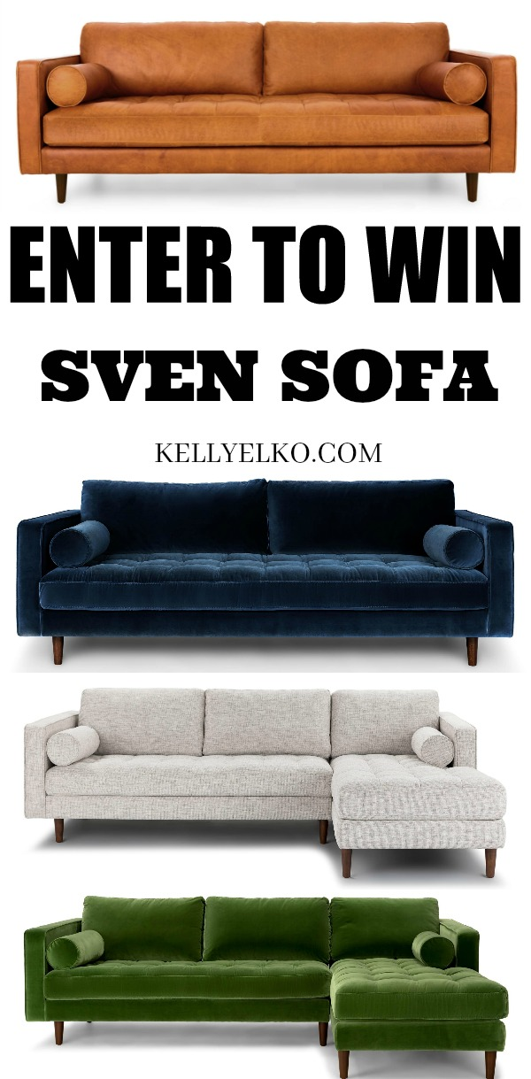 Enter to Win a Sven Sofa from Article! kellyelko.com #svensofa #article #sofas #furniture #livingroom #giveaway