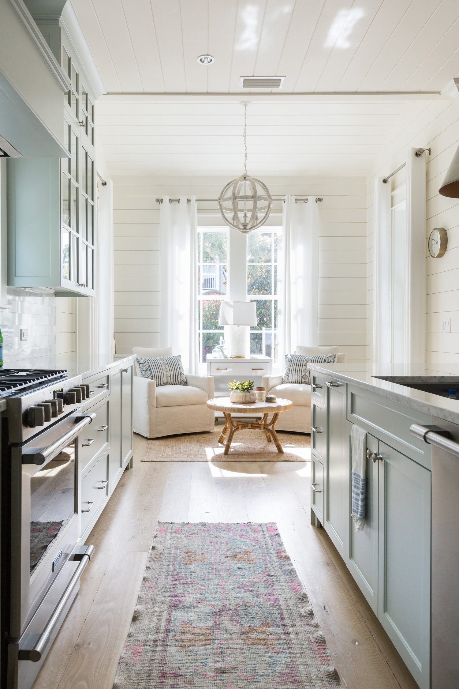 Beautiful kitchen with a cozy little reading nook kellyelko.com #kitchens #kitchendecor #interiors #decorate
