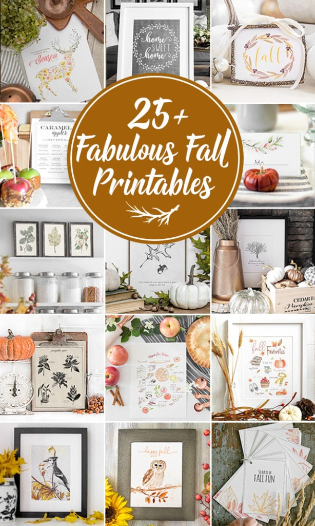 Fall Farmhouse Chalkboard Art Printable - Kelly Elko