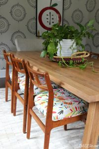 New Dining Room Table and Vintage Chairs