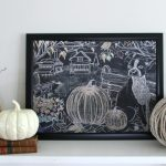 Free fall printable chalkboard farmhouse art kellyelko.com #printable #freeprintables #fall #falldecor #farmhouse