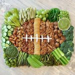 Kelly's Stamp of Approval 15 - love this football theme snack board kellyelko.com #football #partyfood #appetizers #gameday #superbowl #superbowlfood #recipes #charcuterie