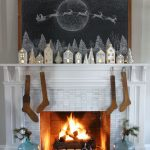 Cheery Christmas Home Tour kellyelko.com #christmasdecor #christmasmantel #farmhousechristmas #christmashometour #christmasstockings