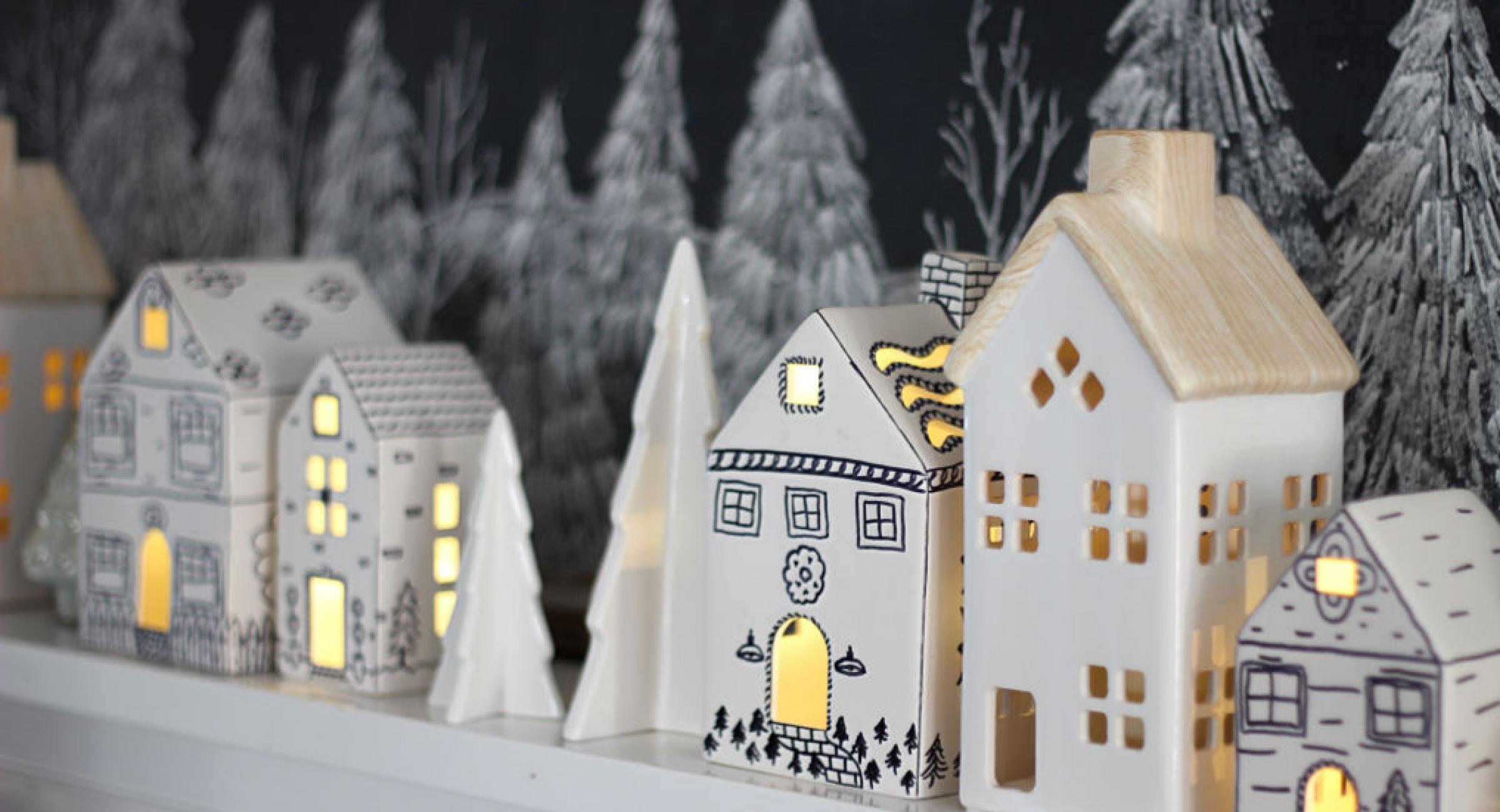 diy-sharpie-houses-christmas-mantel
