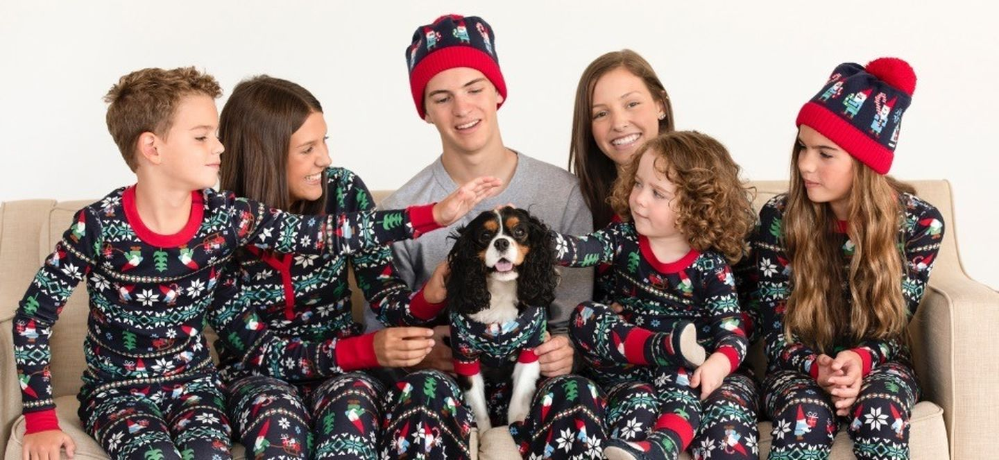 Family Christmas pajamas - love the gnome pajamas kellyelko.com #christmaspajamas #christmas #christmastraditions