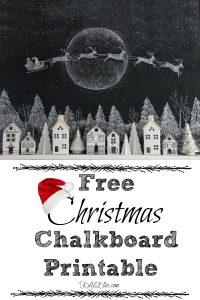 Free Printable Chalkboard Christmas Santa art kellyelko.com #freeprintables #printables #christmas #christmasart #christmasgifts #diychristmas #santa #chalkboardart #chalkart