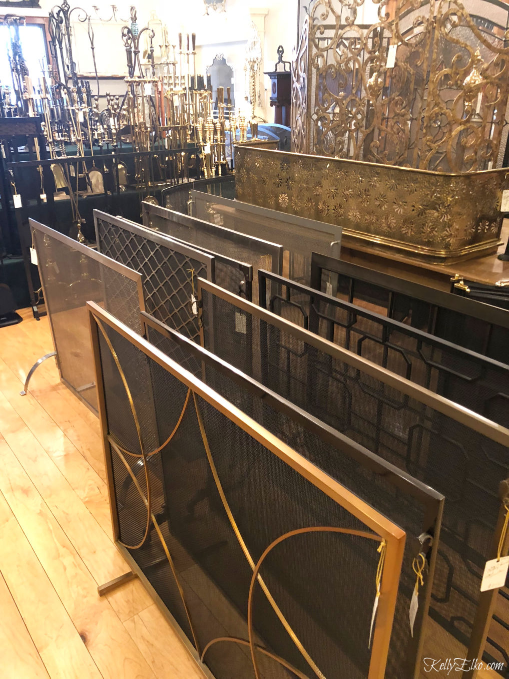 Fireplace screens - so many choices kellyelko.com