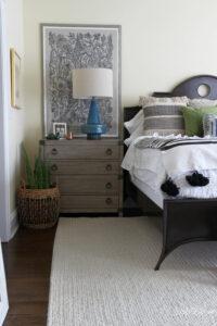 Raymour Flanigan Bedroom Makeover kellyelko.com #bedroom #bedroomdecor #bedroomfurniture #masterbedroom #interiordecor #interiordecorate