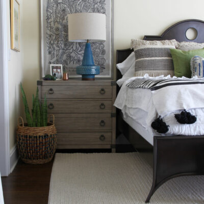 Raymour Flanigan Bedroom Makeover kellyelko.com #bedroom #bedroomdecor #bedroomfurniture #masterbedroom #interiordecor #interiordecorate
