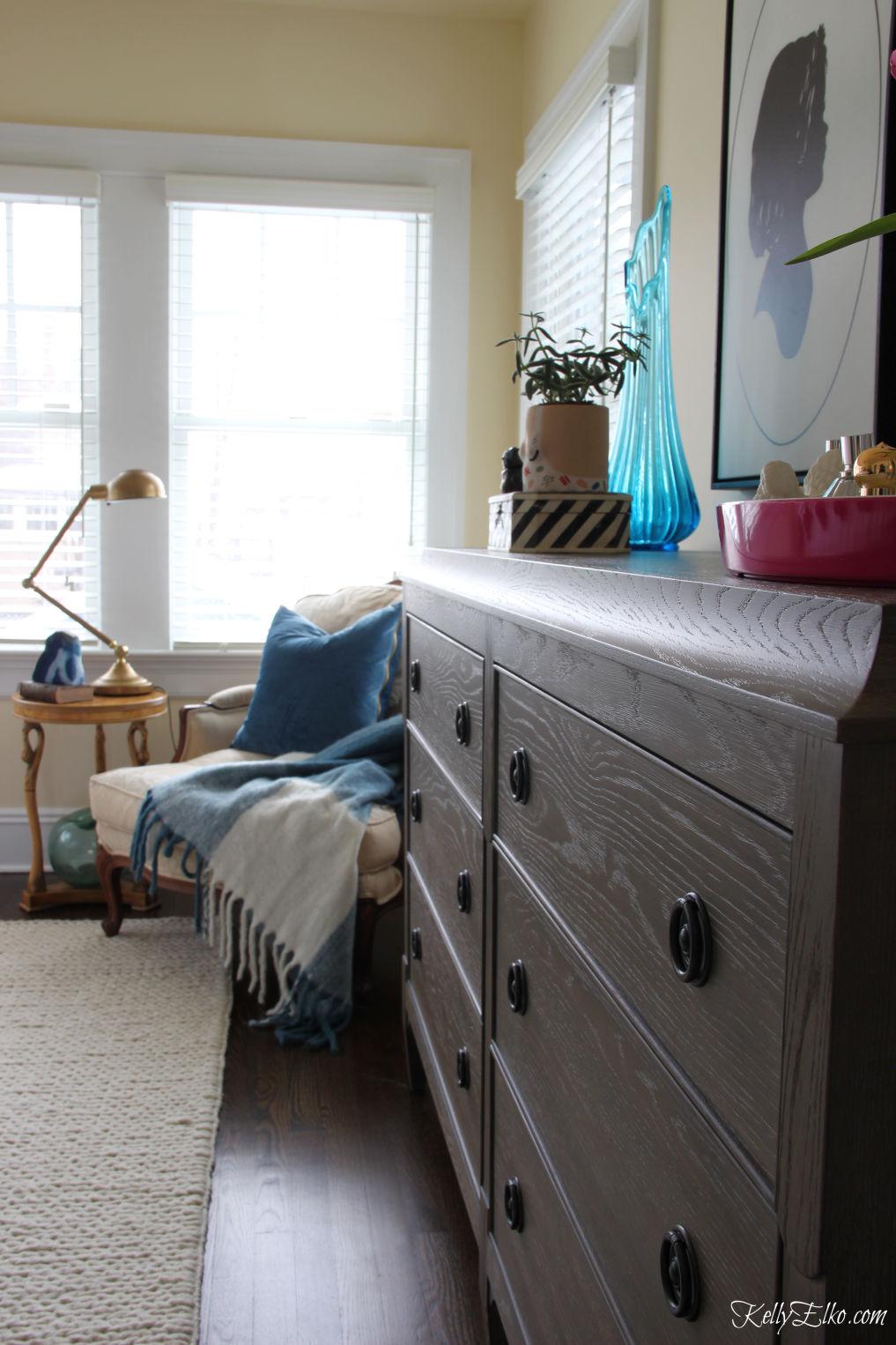 Beautiful master bedroom kellyelko.com #bedroom #masterbedroom #bedroomfurniture #bedroomdecor #dresser