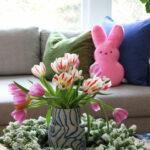 Whimsical Spring Home Tour kellyelko.com #spring #springdecor #easter #easterdecor #tulips #springdecorating #homedecor #decorate #eclecticdecor
