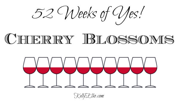 52 Weeks of Yes! Cherry Blossoms kellyelko.com #cherryblossoms #52weeksofyes