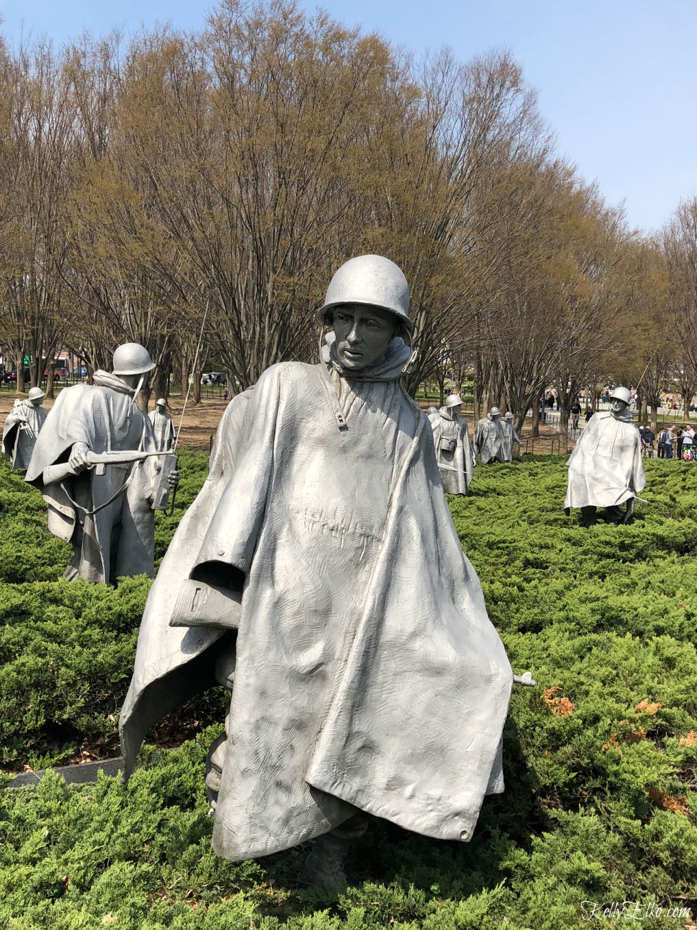 Weekend in Washington DC - the Korean War Veterans Memorial is so moving kellyelko.com #travel #travelblogger #washingtondc #dc #vacation #familytravel #getaway #escape #koreanwarmemorial