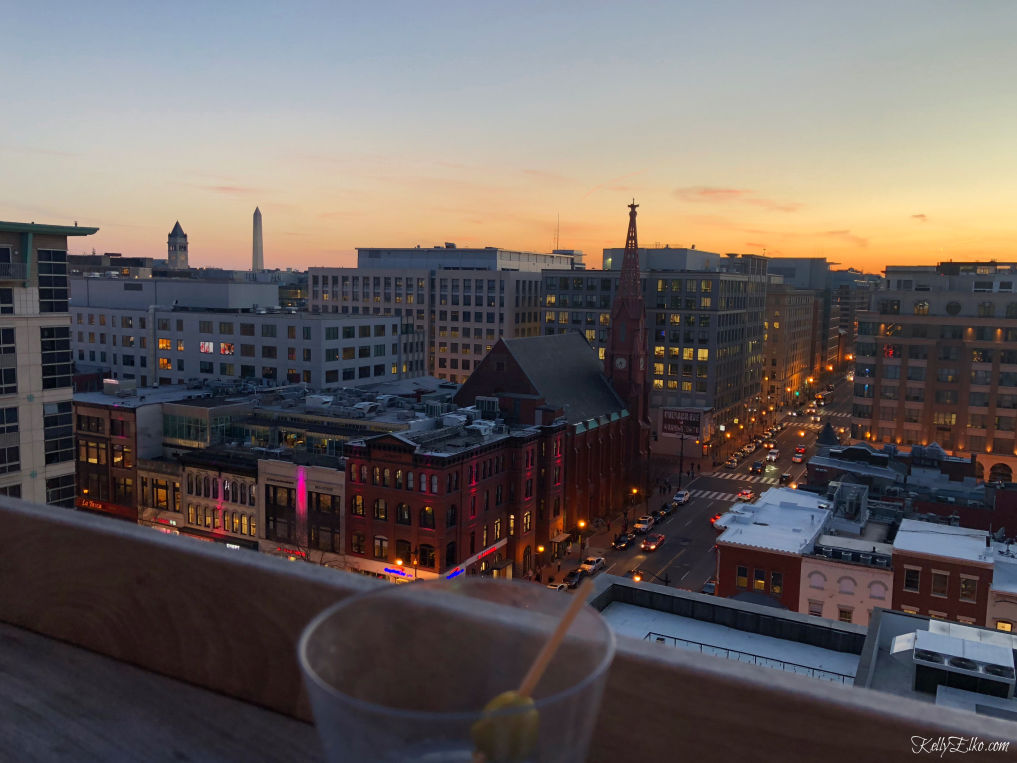 Pod Hotel Washington DC Rooftop Bar kellyelko.com #washingtondc #podhotel #rooftopbar #dc #travel #vacation