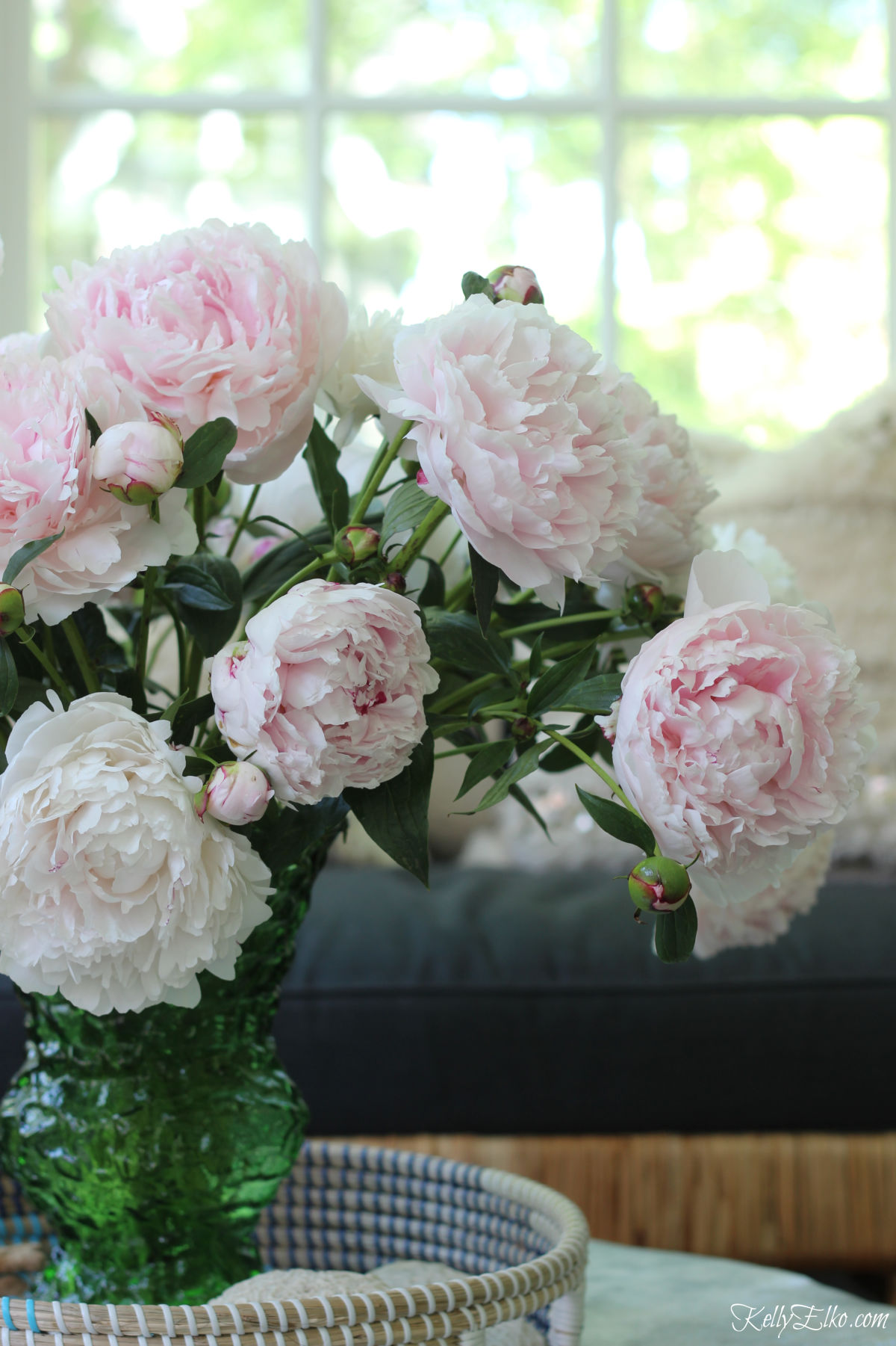 Pink peonies - so many great tips for planting, growing, cutting kellyelko.com #peonies #peony #perennials #gardener #gardeningtips