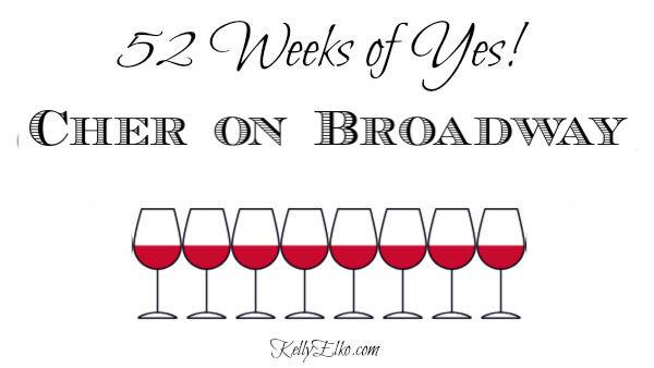Cher on Broadway kellyelko.com #52weeksofyes #broadway #cher