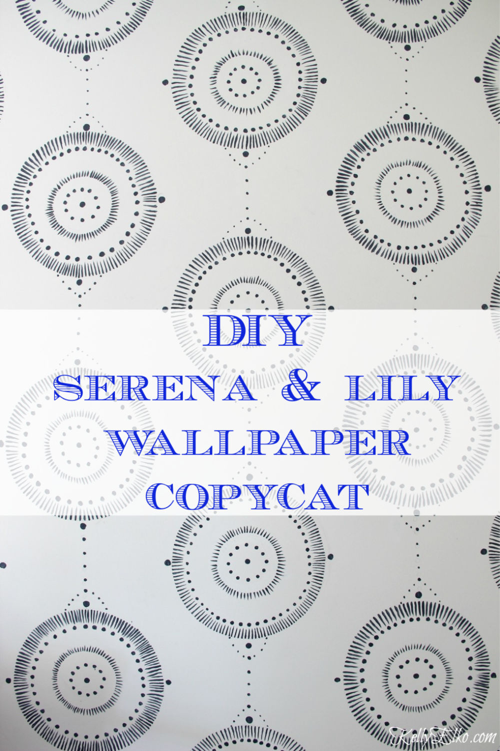 DIY Serena & Lily Wallpaper Copycat! Get the look of expensive wallpaper at a fraction of the cost kellyelko.com #serena&lily #paintingtips #painttechniques #wallpaint #diyideas #diydecor #homedecor