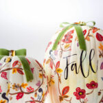 12 Creative DIY Painted Pumpkins kellyelko.com #pumpkins #pumpkincrafts #fallcrafts #paintingtechniques