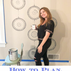 How to paint repeating wall mural kellyelko.com #walls #wallpaint #paintingtips #diydecor #diypaint #diyideas