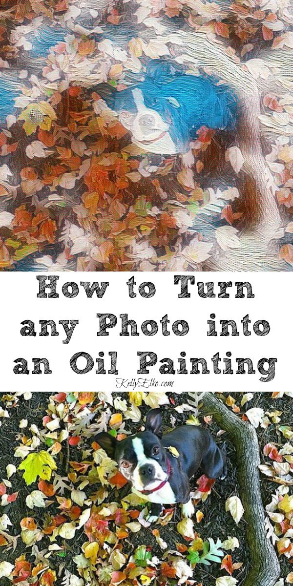 How to Turn any Photo into an Oil Painting - no art skills required! kellyelko.com #art #diyart #oilpainting #howtopaint #tipsandtricks #apps #photographer #photos