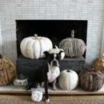 8 Fall Mantel Decorating Ideas kellyelko.com #fall #falldecor #falldecorating #fallmantel