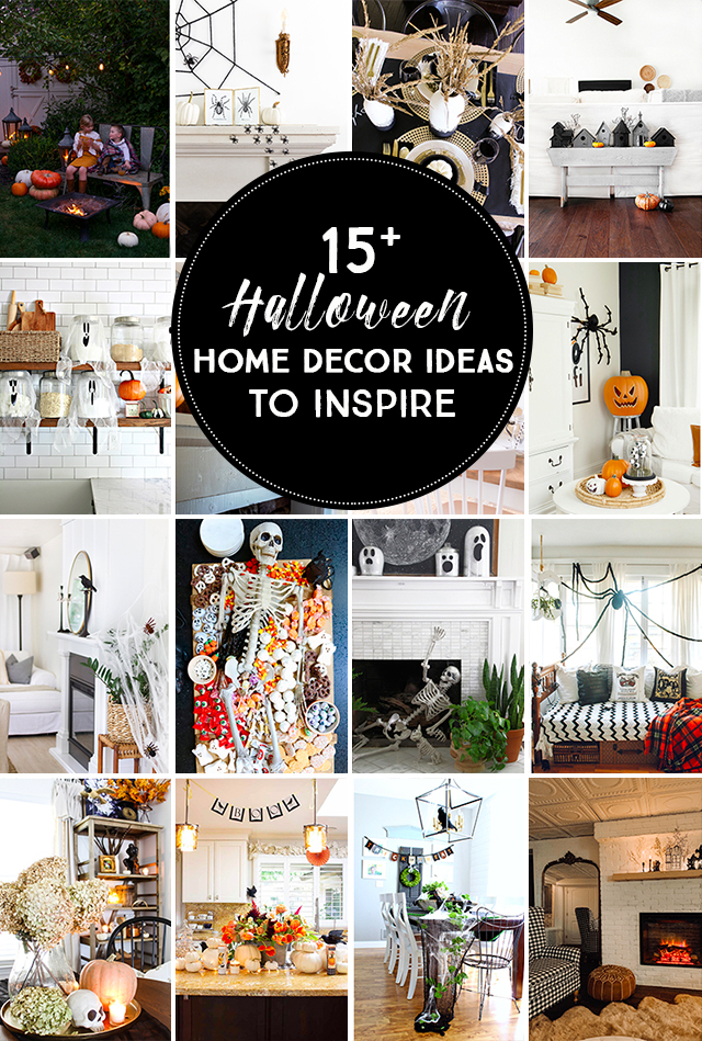 15 Creative Halloween Decorating Ideas to Inspire kellyelko.com #halloween #halloweendecor #halloweendecorating #diyhalloween #skeletondecor #ghostdecor #pumpkindecor #halloweenparty