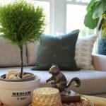 City Farmhouse & Co pillow collection kellyelko.com #pillows #plants #topiary #falldecor