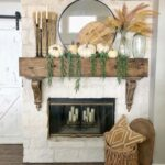 12 Creative Fall Mantels kellyelko.com #falldecor #falldecorating #fallmantel #mateldecor #farmhousefall #farmhousedecor #rusticdecor