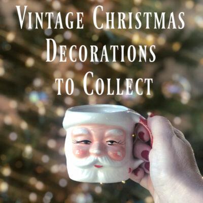 10 Fun Vintage Christmas Decorations to Collect kellyelko.com #christmas #vintagechristmas #vintage #collectibles #christmasdecor #santa