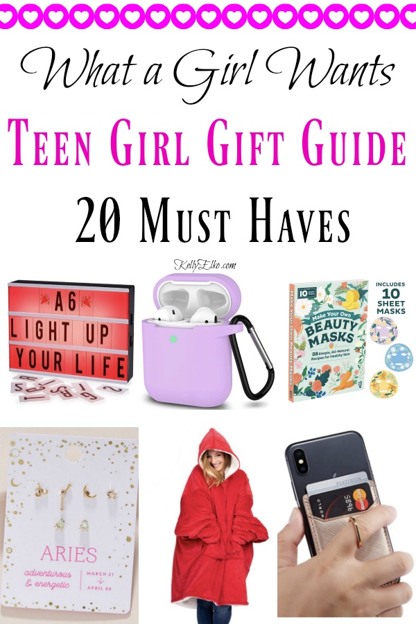 Teen Girl Gift Guide - 20+ Creative Gift Ideas for Her kellyelko.com #teengifts #girlgifts #giftguide #giftideas #giftsforher #giftguides #christmasgiftguide #christmasgiftsher #kellyelko