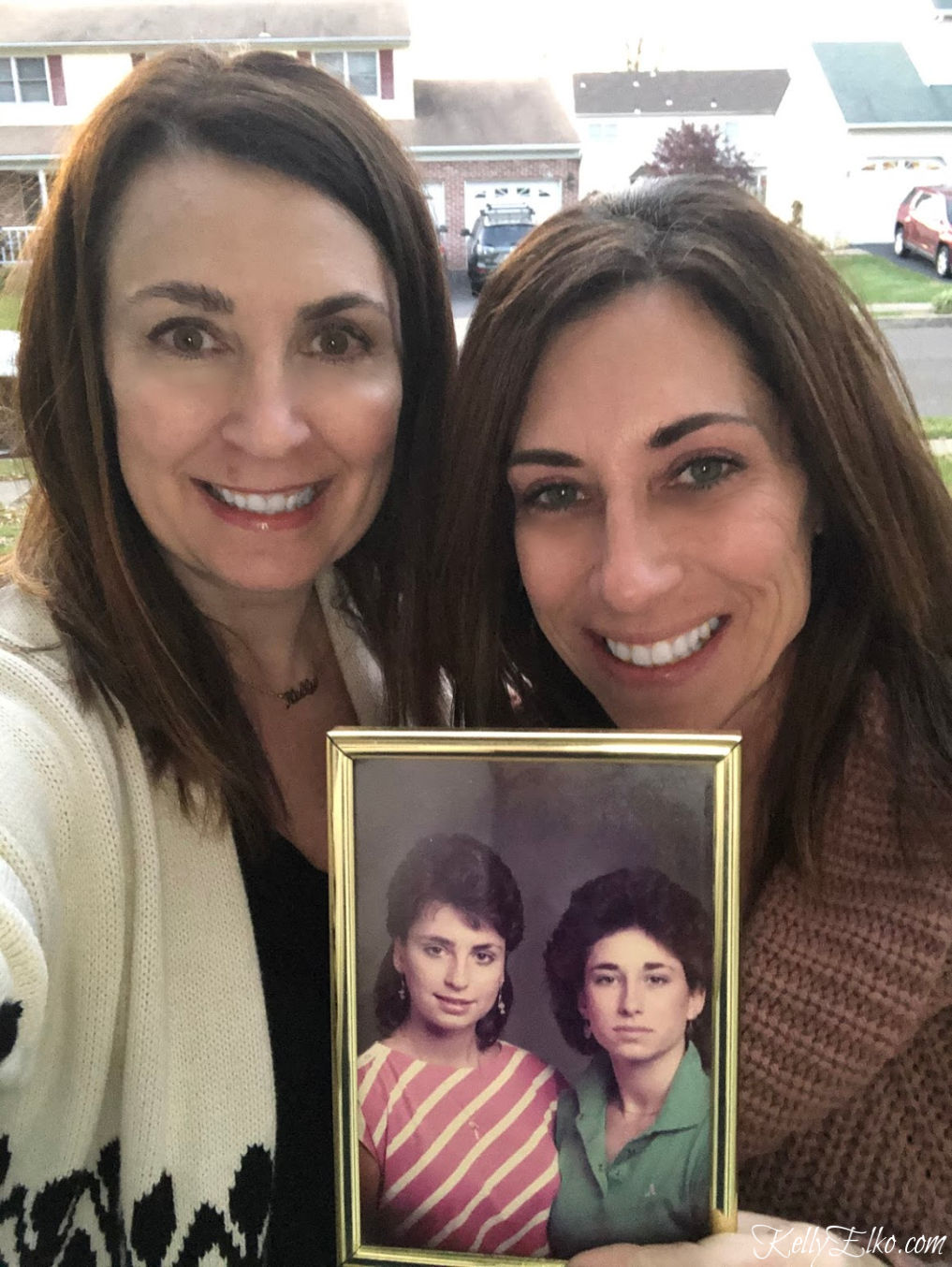 Sisters then and now! kellyelko.com