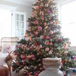 Vintage Shiny Brite Christmas Tree kellyelko.com #christmas #vintagechristmas #vintageornaments #shinybrites #vintagetree #vintagechristmastree #christmasornaments #kellyelko