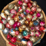 Kelly's Thrifting Diaries November - Christmas edition! See the vintage Christmas finds Kelly scored at the thrift store kellyelko.com #thrifting #shinybrites #vintageornaments #vintagechristmas #vintagecollections #christmasornaments #christmasdecor