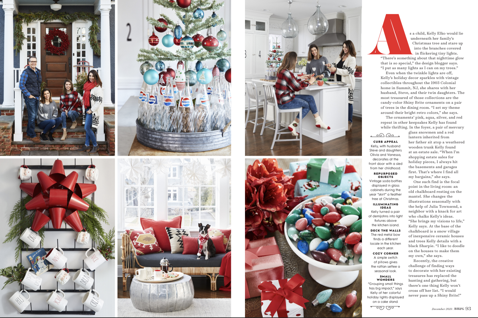 Better Homes & Gardens Christmas feature kellyelko.com #christmasideas #christmasdecor #christmasdecorations #christmashome #christmashometour #christmasporch #christmastree #christmaskitchen #farmhousechristmas #vintagechristmas