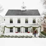 Kelly's Stamp of Approval 8 kellyelko.com #farmhouse #farm #christmashome #whitehouse #farmhousechristmas
