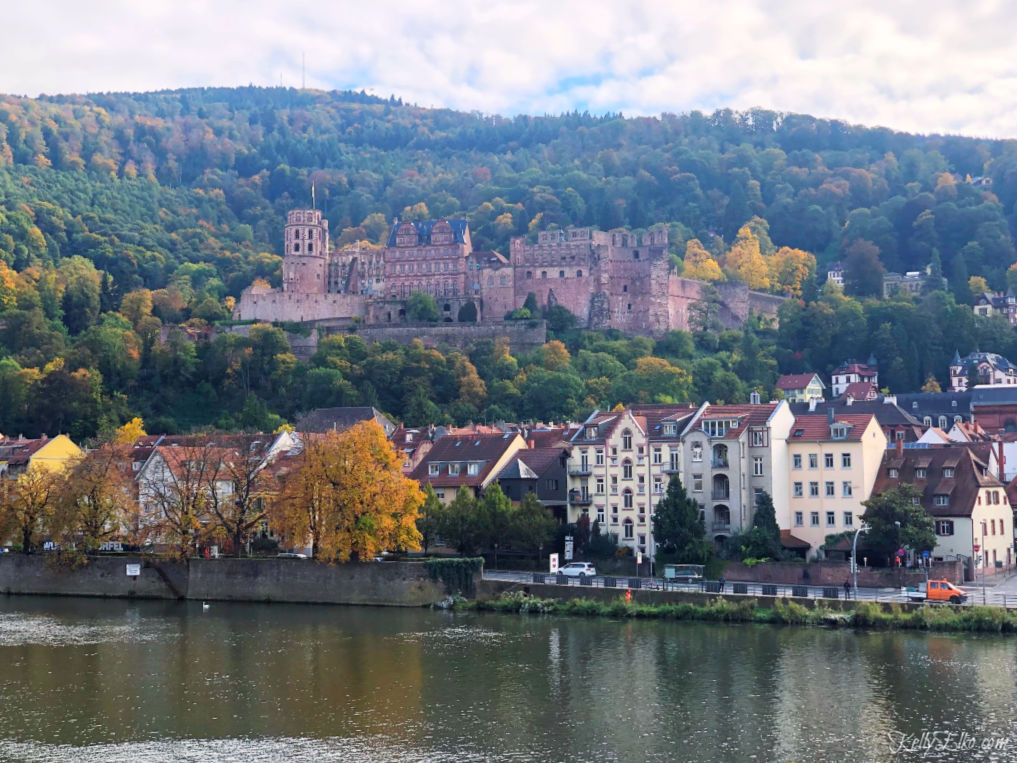 Heidelberg Germany Castle on the Rhine River Cruise kellyelko.com #heidelberg #heidelbergcastle #germany #luxurytravel #travelblogger #travelblog #nekarriver #europeantravel #europe #castles
