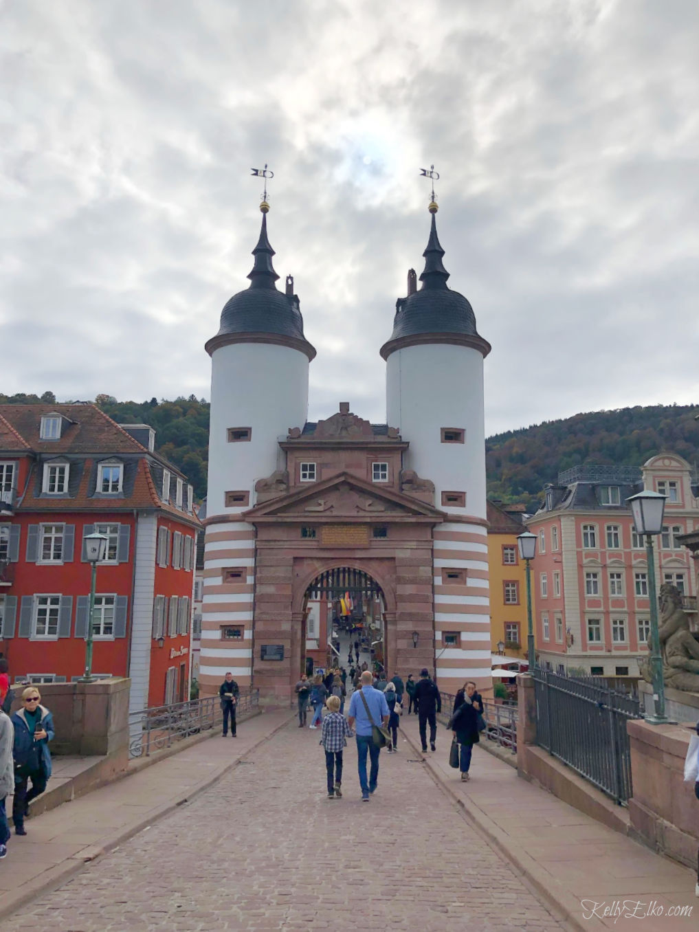 Heidelberg Germany bridge kellyelko.com #travel #travelblog #heidelberg #germany #luxurytravel #exploreeurope #rivercruise