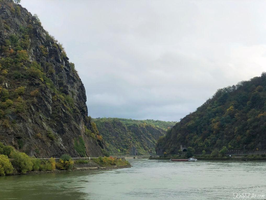 Lorelei Rock on a Rhine River cruise kellyelko.com #rhineriver #rivercruise #vikingcruise #myvikingjourney #loreleirock #germany #travel #travelblog #travelblogger