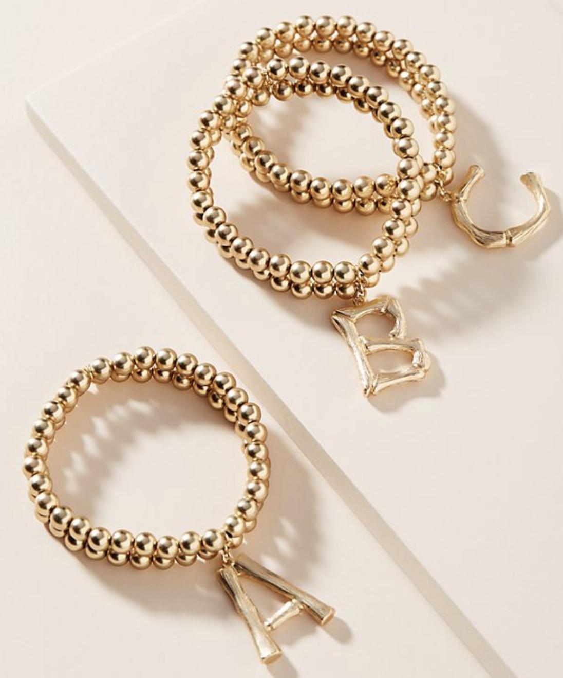 Initial Bracelet kellyelko.com #initial #monogram #jewelry #bracelets