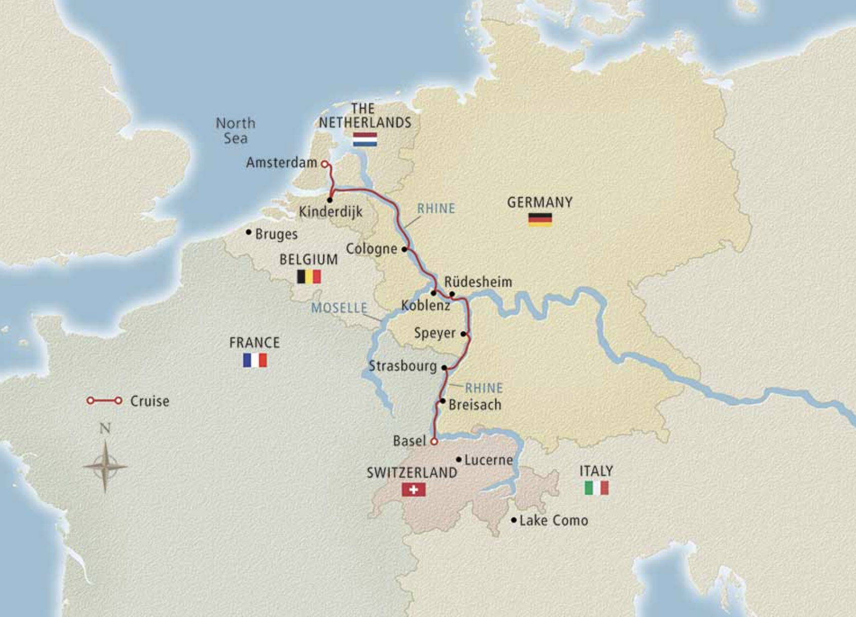 Viking Rhine River Valley Amsterdam to Basel Cruise