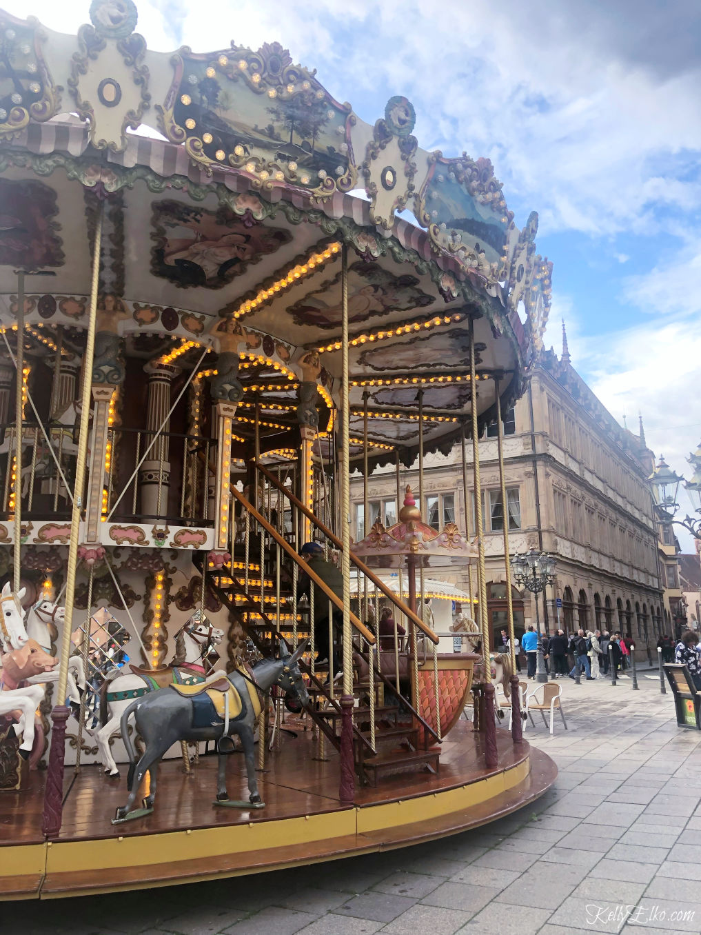 Love the charming carousel in Strasbourg France kellyelko.com #strasbourg #carousel #travelblog #rivercruise