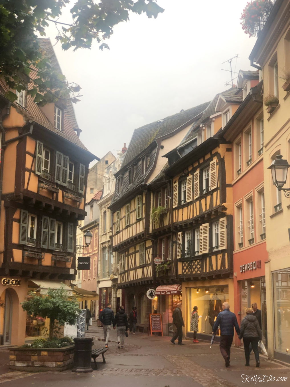 Colmar France has the most charming half timbered houses kellyelko.com #halftimber #france #colmar #luxurytravel #travelblog #travelphotography
