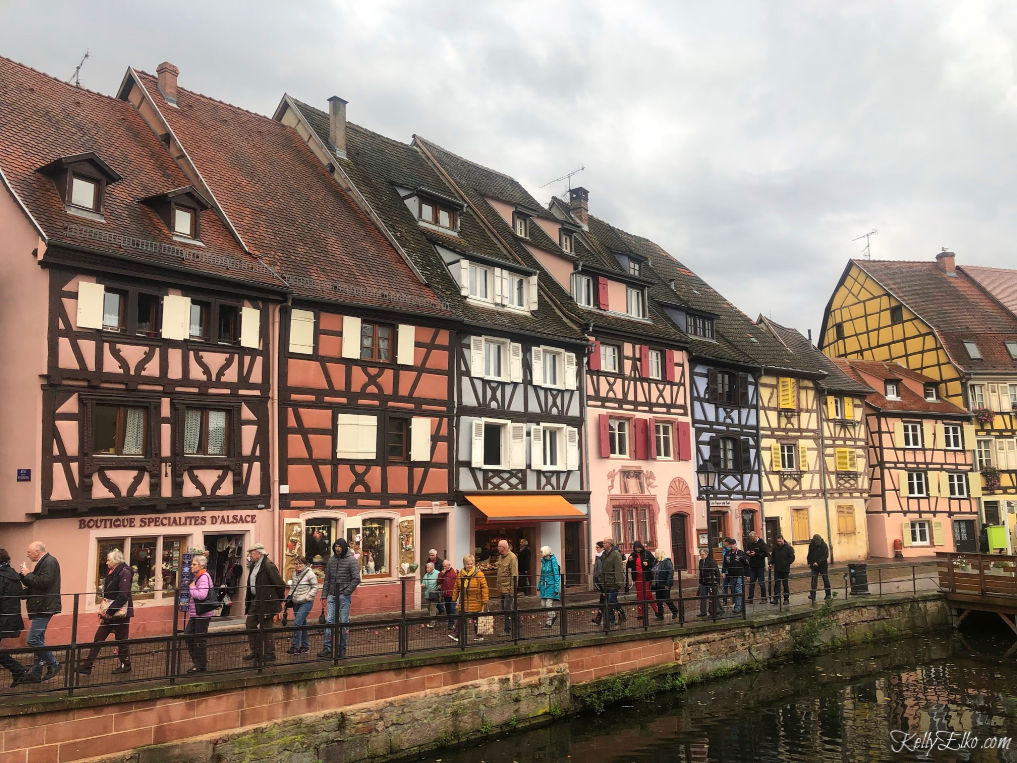 Colmar France and the charming half timbered houses on the canal kellyelko.com #colmar #colmarfrance #france #rivercruise #rhineriver #travel #luxurytravel #travelphotography #halftimberedhouses