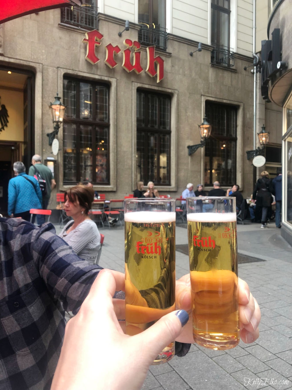 Drink Kolsch beer at a real Brauhaus while in Cologne Germany kellyelko.com #kolsch #colognegermany #brauhaus #germany #travel #beer #travelblogger #rhineriver #rivercruise