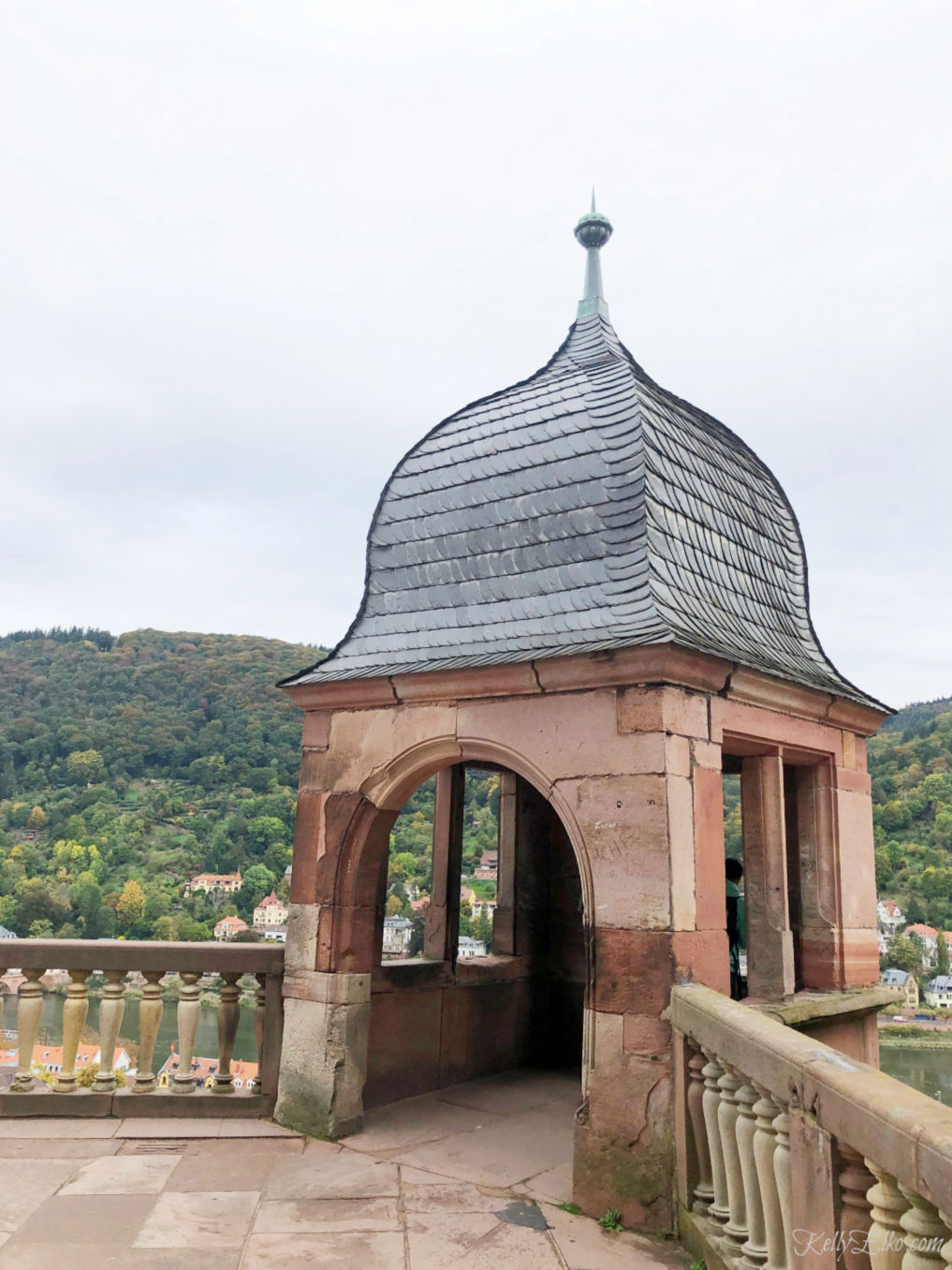 Heidelberg Germany view from the castle kellyelko.com #heidelberg #heidelbergcastle #germany #luxurytravel #travelblogger #travelblog #nekarriver #europeantravel #europe #castles