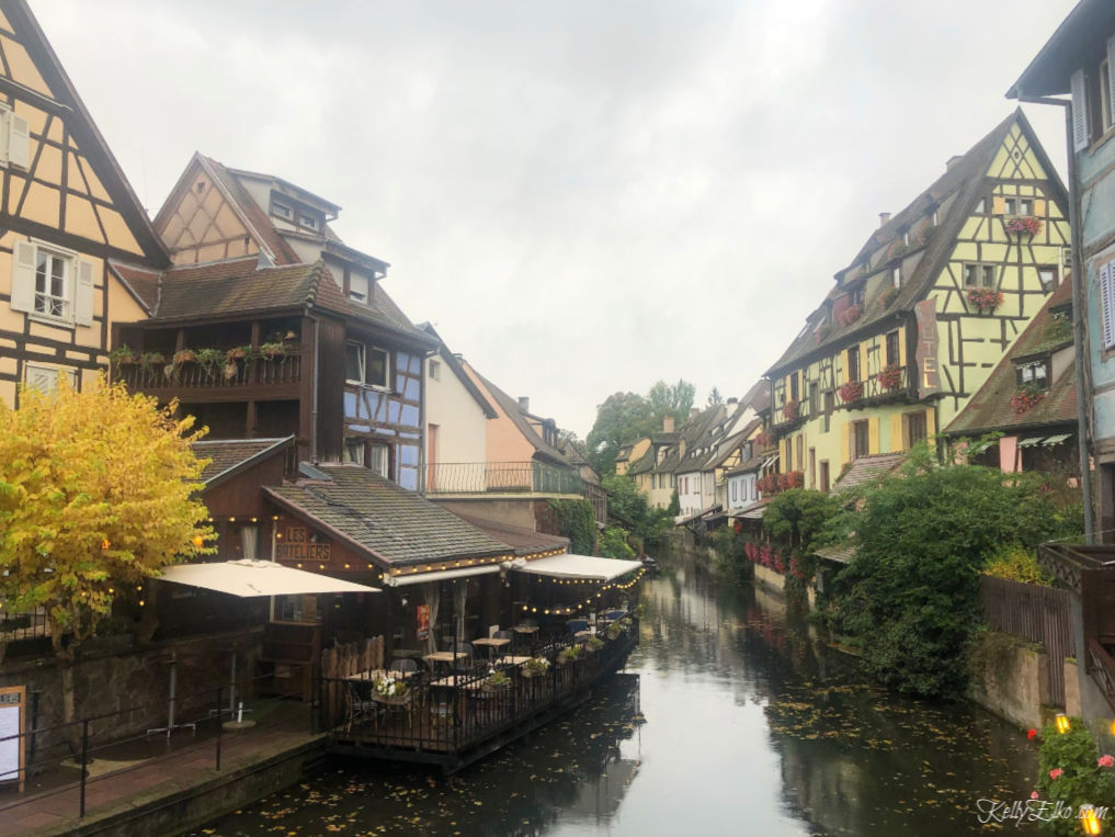 la Petite Venise is a charming area of Colmar France that is not to be missed with it's half timber houses on canals kellyelko.com #travel #colmar #colmarfrance #rhineriver #rivercruise #france #luxurytravel #europeantravel #travelblog #trabelblogger #halftimber