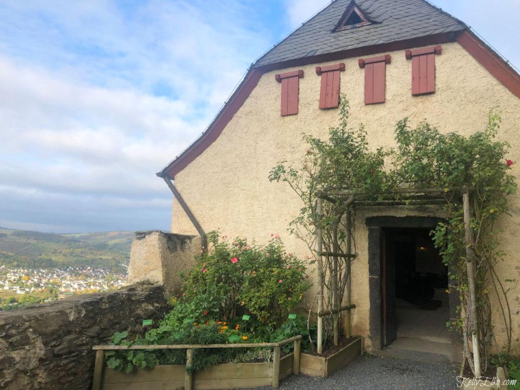 View of the Rhine River from Marksburg Castle in Germany kellyelko.com #marksburgcastle #rhineriver #rhine #rhinecruise #rivercruise #vikingcruise #germany #travel #travelblog #travelblogger #rivercruisereviews
