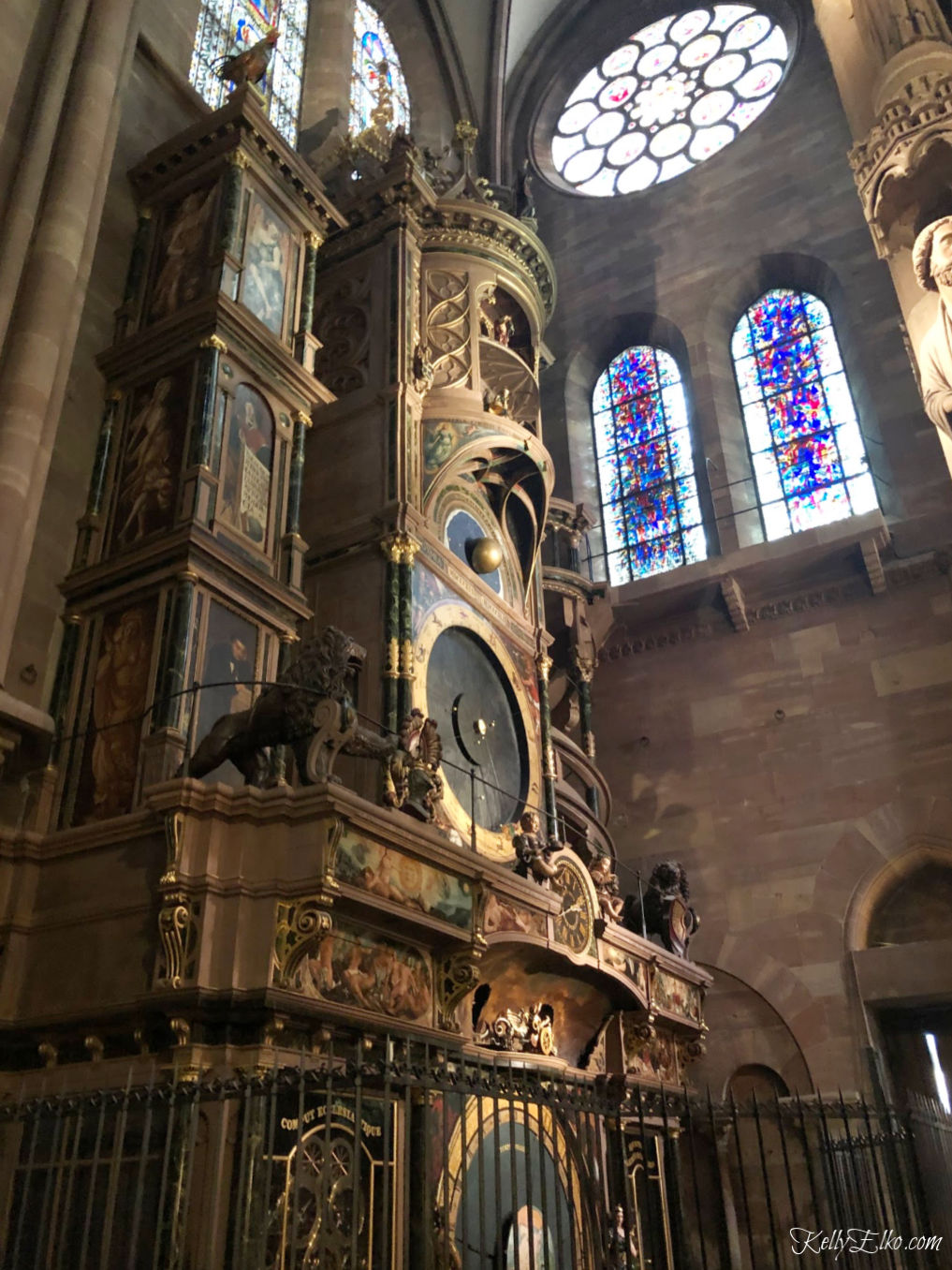 Don't miss the astronomical clock in the Strasbourg Cathedral kellyelko.com #astronomicalclock #cathedral #strasbourg #strasbourgcathedral #rivercruise #luxurytravel #travelblog